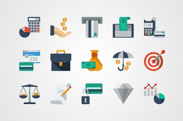 Finances and business icons