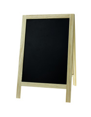 Blank old tripod blackboard