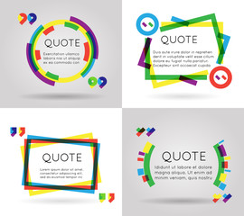 Quote template colorful information text blog business mobile isolated on white background vector illustration