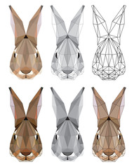 Stylized image of hare's head