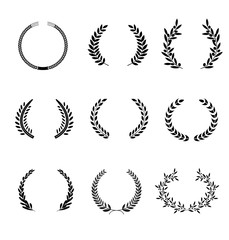 Laurel Wreaths Vector. Elements. It can be used in the design for websites, infographic, catalogs, brochures, magazines, etc.