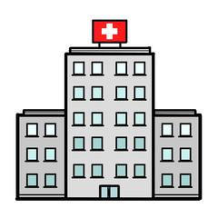 Hospital isolated on white