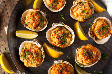 Homemade Baked Clams with Lemon