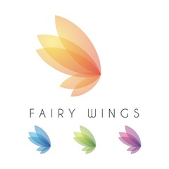 Fairy Wings Feminine Design Vector Logo