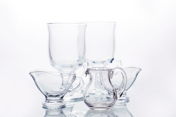Still life with glassware