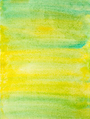abstract watercolor background with green and yellow