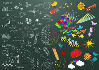 creative and science brain