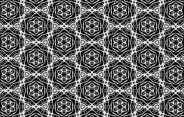 Ornament of the black and white elements. 23