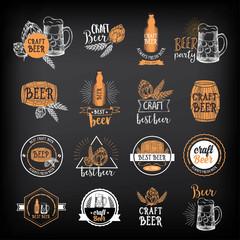 Beer restaurant cafe badges, drink template design.