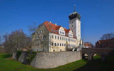 Schloss Delitzsch am Beginn des Frühlings