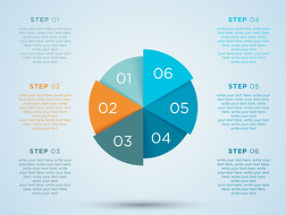 Infographic Circle With Steps In Segments 1 to 6