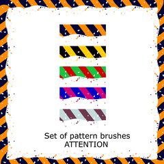 Set of pattern vivid brushes to attract attention
