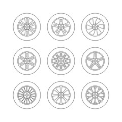 Vector tires icons