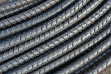 Steel bar texture