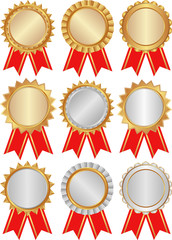 set of isolated award medals