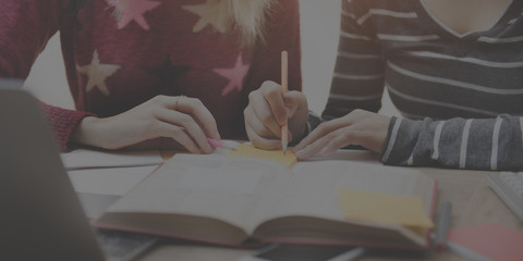 Friends Together Ideas Sharing Homework Talking Concept
