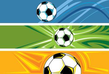 Soccer Ball Banner, Football Abstract Background (Vector Art)