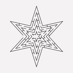 maze puzzle a star shape