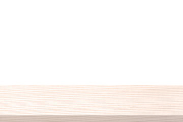 Perspective white wood table top isolate on white background, Elegant Design with Space for placement your background,Template mock up for montage your products