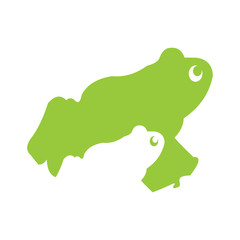 Simple Green Frog Toad