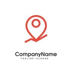 map location logo icon Vector