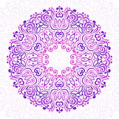 Abstract Ornate Mandala. Decorative frame for design.