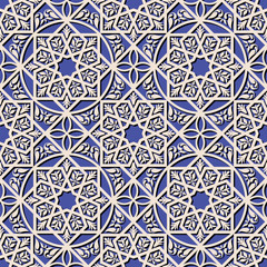 Vintage arabic and islamic background, ethnic style ornaments