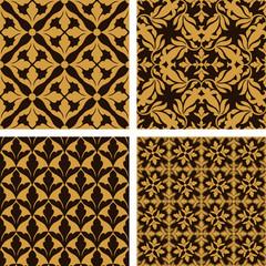 Vintage, Islamic damask backgrounds set, beautiful ornamentation