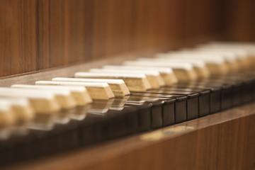 Wall Mural - Harpsichord Keyboard closeup