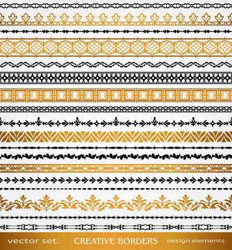 Islamic Style Borders Set, Creative calligraphic page decoration