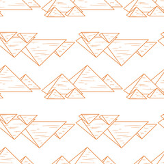 seamless orande pyramids