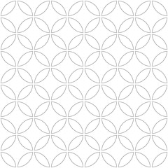 Circle Black Seamless Pattern in Vector