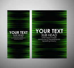 Abstract green shining pattern. Graphic resources design template. Vector illustration