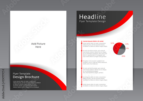 Vector Design Of The Black And White Flyer Cover Brochure Poster