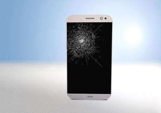 Smartphone black screen display brocken