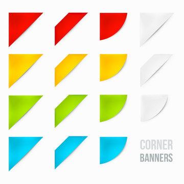 Set of Corner Banners