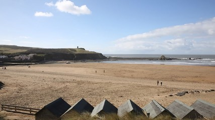 Fototapete - Bude beach North Cornwall England UK popular tourist destination pan