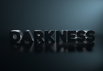 Darkness ,3D Typography