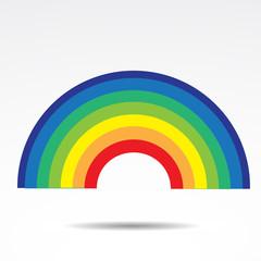 Rainbow vector icon.