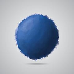 Blue circle, traced. EPS10, CMYK.