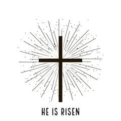 Christ is risen stylish design vector illustration