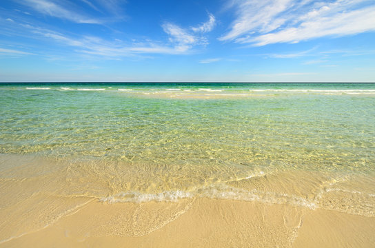 Paradise beach with clear water