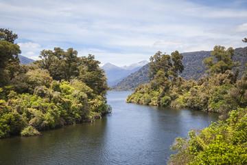 Landschaft an der Westküste der Südinsel Neuseeland