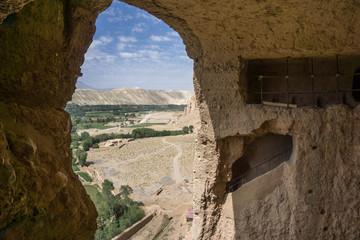 aus sicht von buddha auf bamiyan - afghanistan