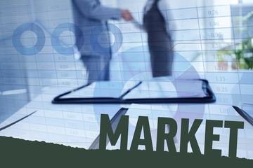 Composite image of market
