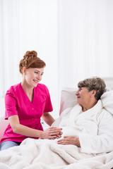 Senior lady on geriatric ward