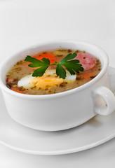 Polish Zurek, easter soup.