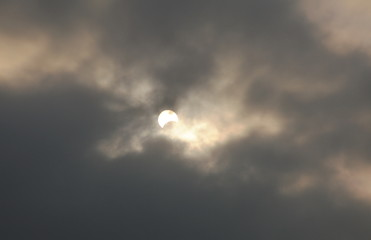solar eclipse in dull day