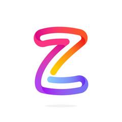 Z letter colorful logo.