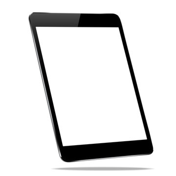 mockup black tablet isolated on white vector design